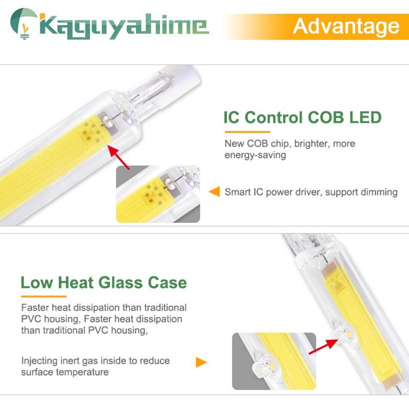 Image 4 - Kaguyahime R7s LED COB Dimmable Lamp 220V 110V 135mm 118mm 78mm LED R7S Bulb 2835 SMD Lamp Replace Halogen Light Spotlight Bulb-in LED Bulbs & Tubes from Lights & Lighting