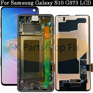 Image 2 - AMOLED For Samsung Galaxy S10 2019 SM G9730 G973F LCD Display Touch Screen Digitizer Replacement For SAMSUNG S10 Plus G9750 LCD