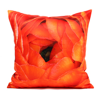 45 Cm X 45 Cm Cushion Covers Decorative Pillow Covers 3D 2 Side Printing Flowers Cushion