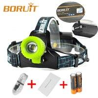 Boruit Verbesserte B11 XM-L T6 Led-scheinwerfer Wiederaufladbare Zoomable Scheinwerfer Scheinwerfer 18650 PCB Batterien Micro USB Angeln