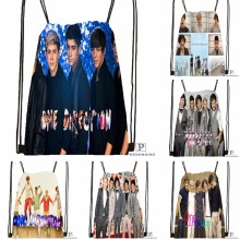 Custom One Direction Drawstring Backpack Bag for Man Woman Cute Daypack Kids Satchel (Black Back) 31x40cm#180531-01-24