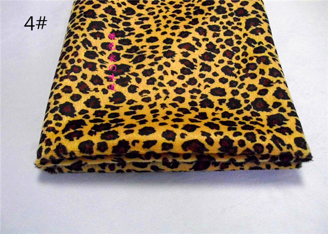 1 meter druck leopard muster Tier stoff kurze haare velboa für DIY ...
