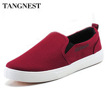 Tangnest Men Loafers 2016 New Canvas Shoes Fashion Slip On Men's Flats Shoes Spring Autumn Casual Man Driving Shoes XMR1313