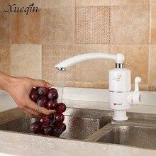 Сюэцинь 220 В мгновенные электрические краны подогреватель воды кухни кран АС Plug одно отверстие ручки бассейна Электрический коснитесь