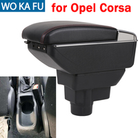 For Opel Corsa armrest box caja universal car center console modification accessories double raised with USB