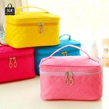 ROSEDIARY Large capacity fashion Diamond lattice Women Cosmetic Bag Organizer Bag Zipper Portable Travel Handbag Makeup Bag