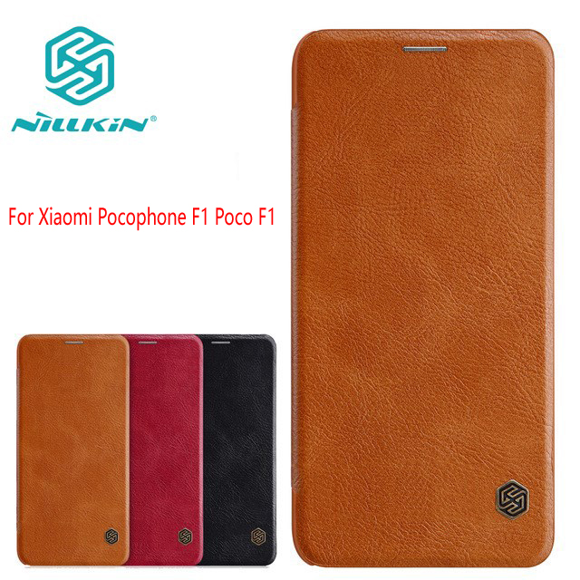 For Xiaomi Pocophone F1 Poco F1 Mi F1 Little F1 6.18 Case cover Nillkin QIN leather Case wallet bag protection flip cover
