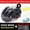Victgoal capacete de bicicleta mountain bike, capacete de luz para ciclismo moldado integralmente à prova de vento com óculos de proteção 9