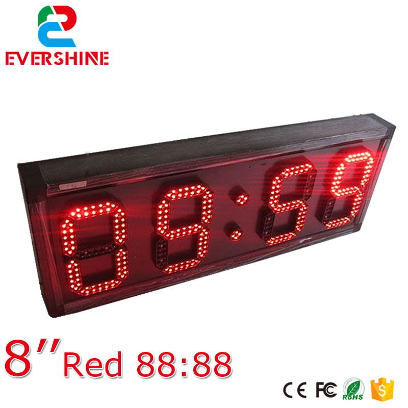 led <font><b>digital</b></font> screens led time display board 8'' red suspension type led countdown timer <font><b>billboard</b></font> display image
