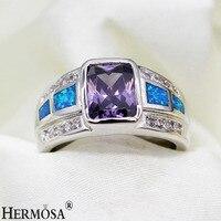 רויאל המבריק מתנה מושלם ליידי אוסטרליה אופל 925 גודל טבעת הכסף 7 8 9 נשים אופנה טבעות R1021