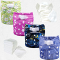 wholesale printed all in one kawaii sleepy baby diapers eve baby diapers+Microfiber Insert