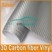 Free shipping high quality Black Vinyl Carbon Fibre Wrap car sticker film 3D Carbon Fiber film with bubble free