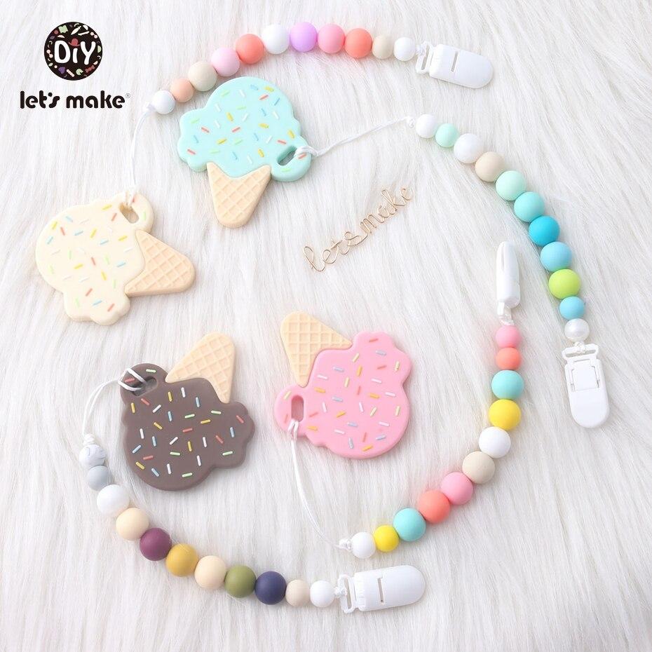 Lassen sie Machen Silikon Schnuller Clip Kette Baby Produkt Förderung Baby Dusche Geschenk Zahnen Silikon Perlen Baby Dummy Clip Ketten