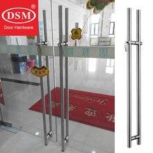 Releasing Pin Exterior Handle DSM-6002H-35*1500mm Glass Door Pull With Locks