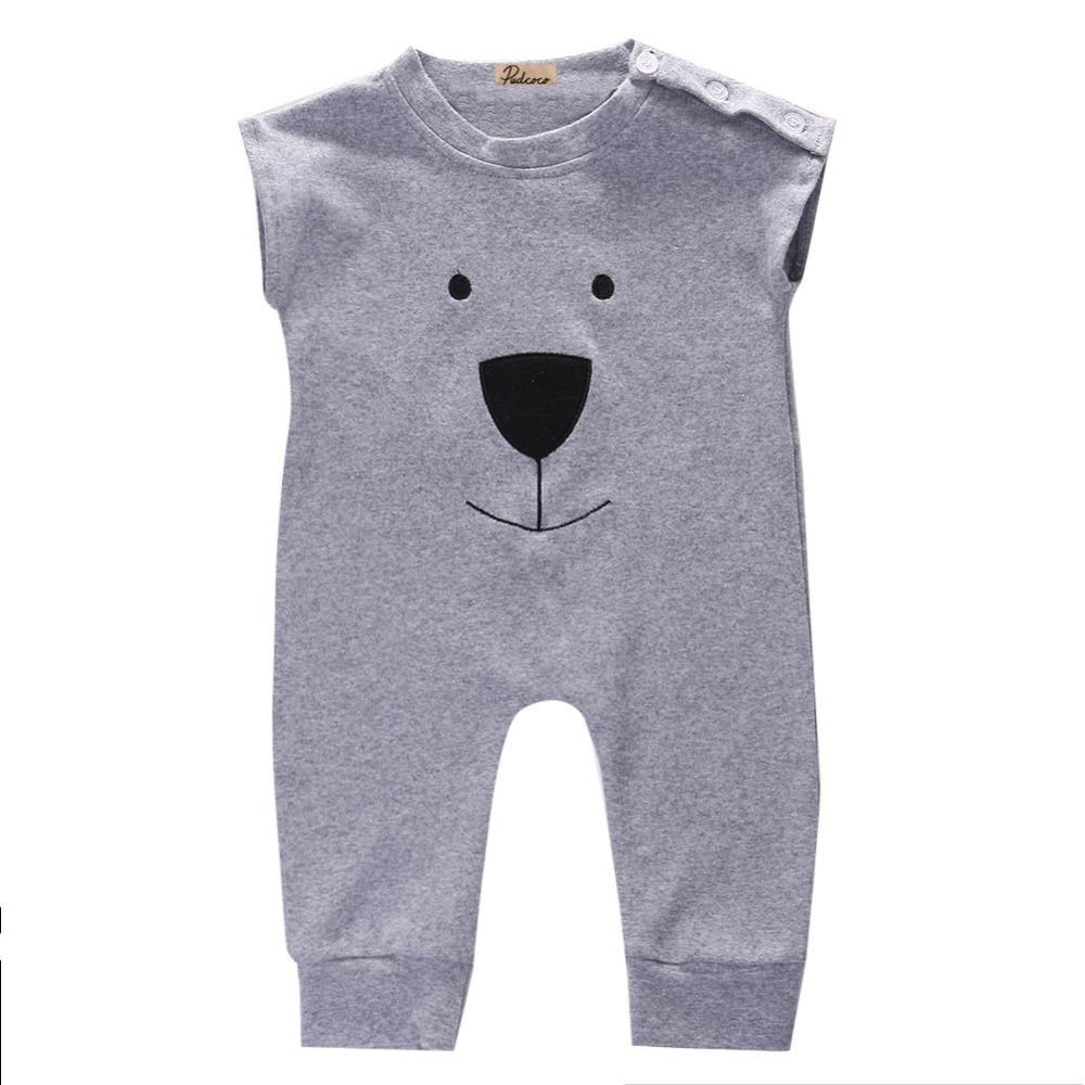 2016 Fashion Leuke Pasgeboren Baby Meisje Jongen Katoen Beer Fleece - Babykleding