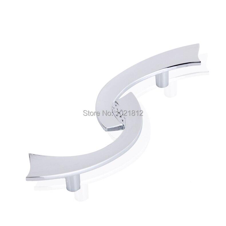 Modern S Pattern Chrome Cabinet Handle Wardrobe Handles Pulls Dresser Drawer Handles Kitchen Cupboard Handle H1265