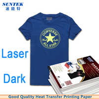 50sheets A4 Size Laser White Dark Color Heat Transfer Printing Paper Thermal Transfer Paper for T-shirt Fabric