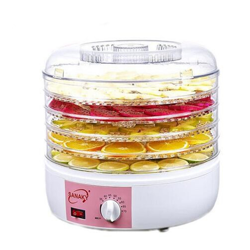 Household Food Dehydrator Fruit Vegetable Herb Meat Drying Machine Snacks Food Dryer Fruit dehydrator with 5 trays 5 trays 245w food fruit dehydrator drying fruit machine home food dryer dehydrator with timing function and temperature control