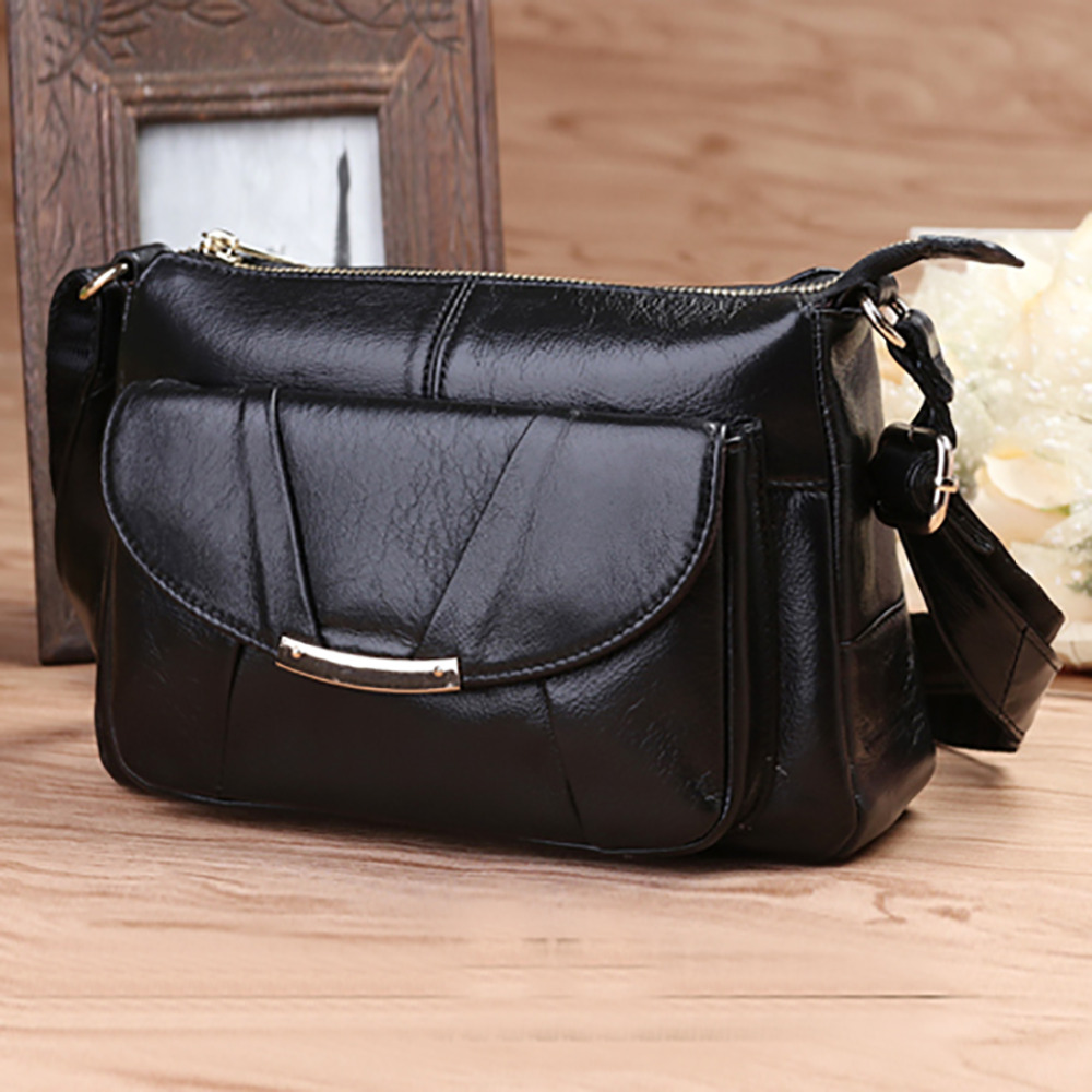 New Women Genuine Leather Messenger Bags First Layer Cowhide Hobo Cross Body Satchel Famous Brand Ladies Single Shoulder Bag real genuine leather women single shoulder bag small cross body satchel ladies messenger bags famous brand cowhide tote handbag