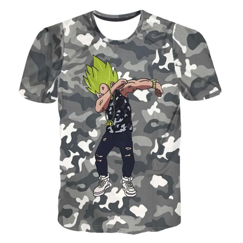 Men Summer 3D T shirt One Piece Naruto Dragon Ball Character Print Cartoon Camouflage T-shirts Homme Casual Tees Top Camiseta