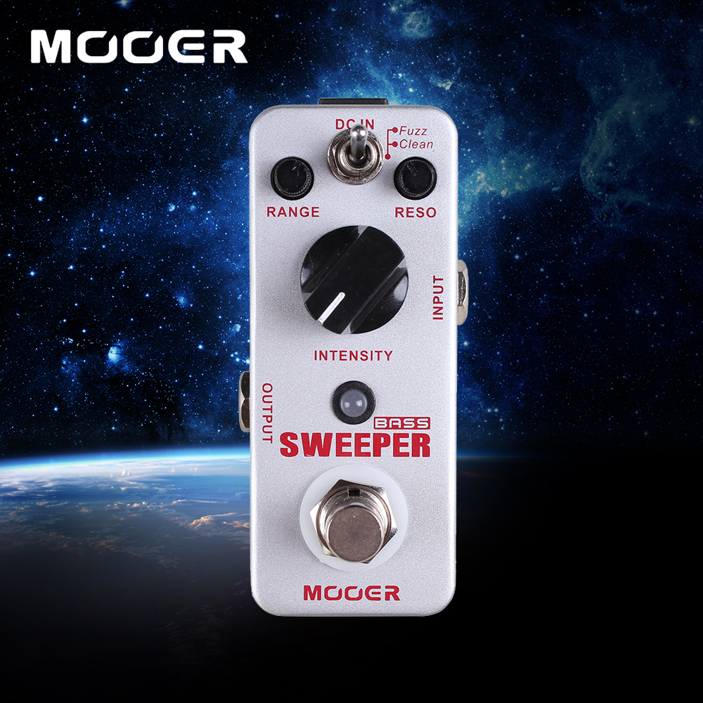 Mooer Sweeper Bass Dynamic Envelope Filter Effect Pedal True Bypass 2 Working Modes Clean/Fuzz mooer ensemble queen bass chorus pedal true bypass guitar effect pedal