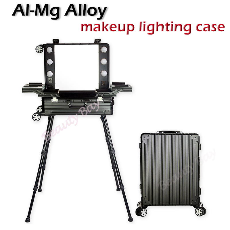 2018 New Aluminum magnesium alloy material beauty trolley