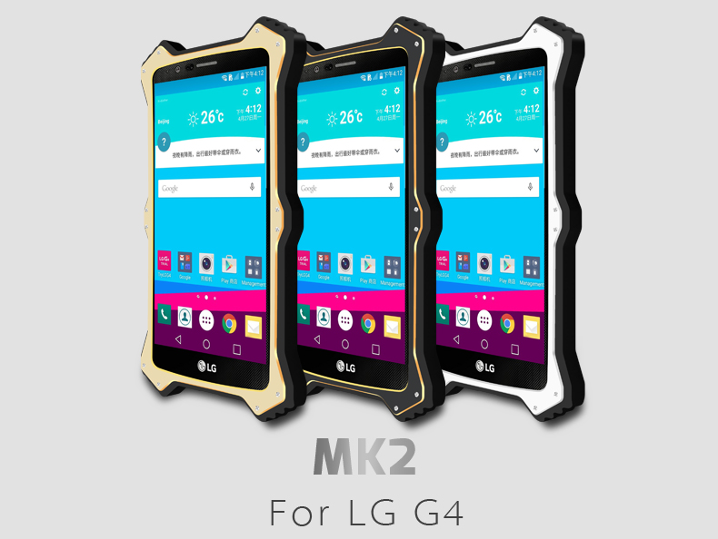 For LG G4 case Original LOVE MEI MK2 Metal Shockproof Aluminum Phone Cases Cover for LG G4 cover case Free Shipping