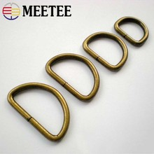 Meetee ID20/25/32/38mm 5pcs D Ring Adjustable Metal Buckle for Bag Belt Bikini Opening Hook Handmade Hardware Accessories BF209
