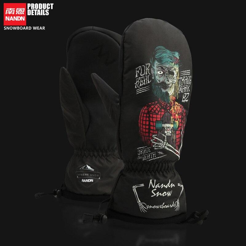 Prix pour 121713 Hiver Thermique Gants de Ski Imperméable À L'eau Fraîche-Résistant Snowboard Gants Hommes Femmes Guantes pour Ski Snowboard-30