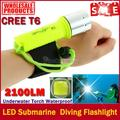 2017 New Hot Professional LED Torch 2100LM CREE T6 Underwater Diving Flashlight Torch Waterproof Lamp free shipping