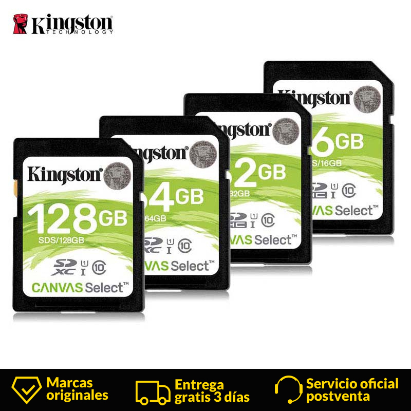 Kingston SD Card 16GB/32GB/64GB/128GB SDHC Class 10 UHS I 80 MB/s Reader For Android SmartPhone-in Memory Cards from Computer & Office