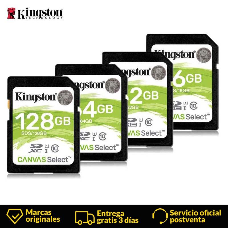 Kingston tarjeta SD de 16 GB/32 GB/64 GB/128 GB SDHC Clase 10 UHS-I 80 MB/S reader para Android SmartPhone