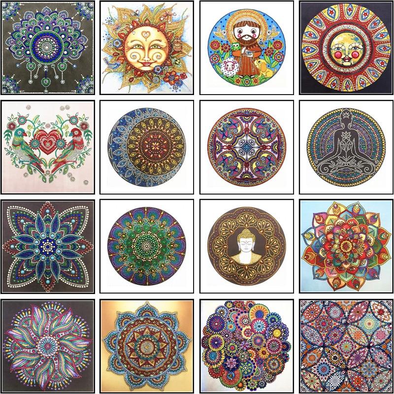 Diamond Embroidery Mandala Flower Special Shape Painting Needle Rhinestone 5d DIY Crystal