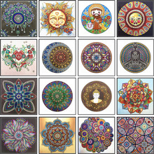 Diamond Embroidery Mandala Flower Special Shape Painting Needle Rhinestone 5d DIY Crystal