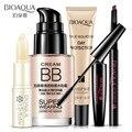 5 Pcs Kit de Ferramentas de Maquiagem Profissional Deve Ter um Presente de Cosméticos Conjunto de Maquiagem Fundação Bálsamo Labial Lápis de Sobrancelha Mascara Make up Pack