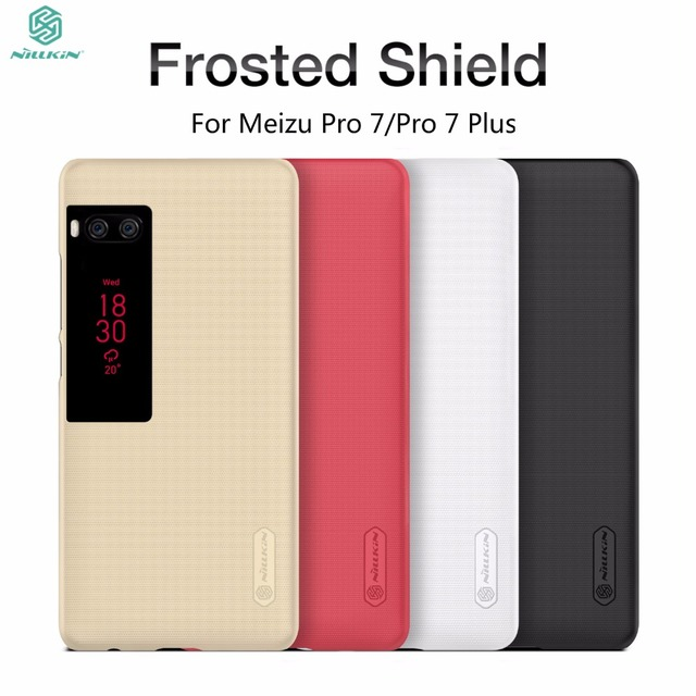 Meizu Pro 7 Чехол Meizu Pro 7 Plus чехол Nillkin Super Frosted Shield Case для Meizu Pro 7 Pro 7 Plus задняя крышка + подарок фильм