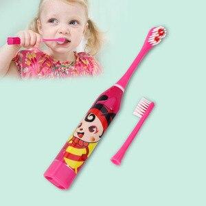 Image 4 - Karikatür desen çocuk elektrikli diş fırçası çift taraflı diş fırçası kafaları elektrikli diş fırçası veya yedek fırça başkanları çocuklar