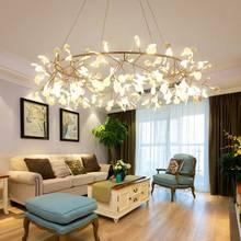 Новое поступление весна Современные светодиодные люстры для кухня-столовая Бар AC85-265V Утюг розовое золото люстры светильники
