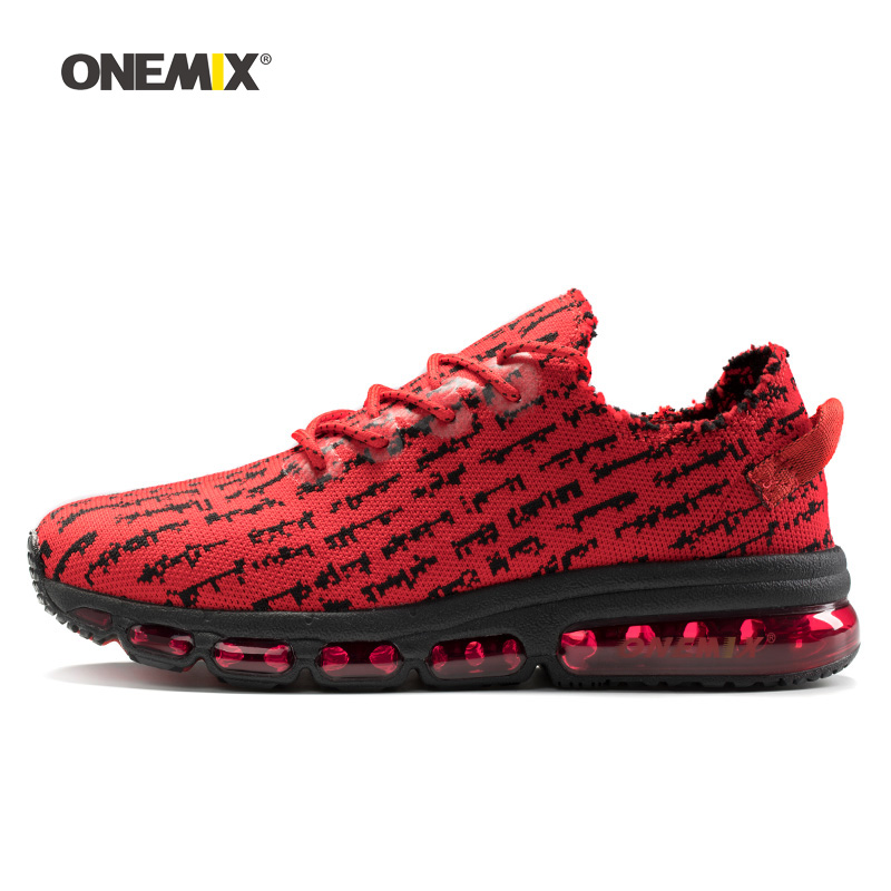 ONEMIX 2018 Max Man Running Shoes Men Trail Nice Trends Athletic Trainers Red Sports Trekking Cushion Outdoor Walking Sneakers onemix 2018 new max men walking shoes women trail athletic trainers black sports boot cushion outdoor tennis running sneakers 42