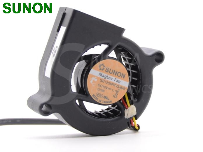 Originele SUNON 5020 GB1205PKV3-8AY 12 V 1.1 W dc Blower Centrifugaal Projector Koelventilator