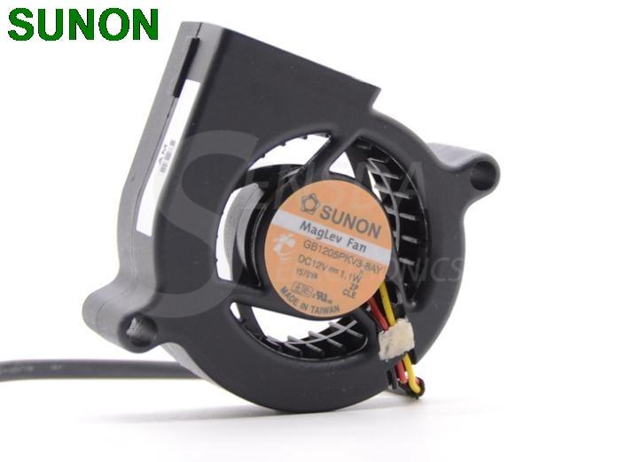 Original SUNON 5020 GB1205PKV3-8AY 12V 1.1W dc Blower Centrifugal Projector Cooling Fan