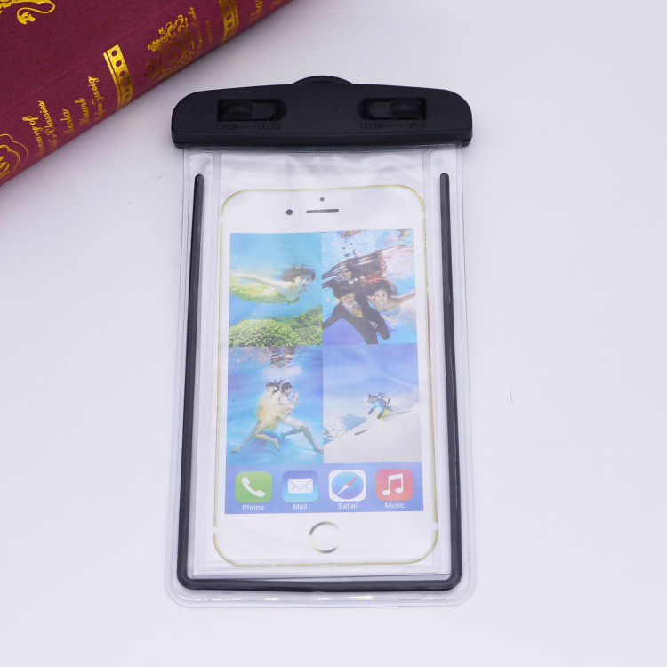 Universal Waterproof Bag With Luminous Lanyard Underwater Pouch Waterproof Phone Case For Xiaomi For iphone Swimming Sealed Bag