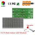 F3.75 P4.75 красный из светодиодов рекламный знак 64 X 32 пикселей размер 304 X 152 мм крытый из светодиодов дисплей модуль