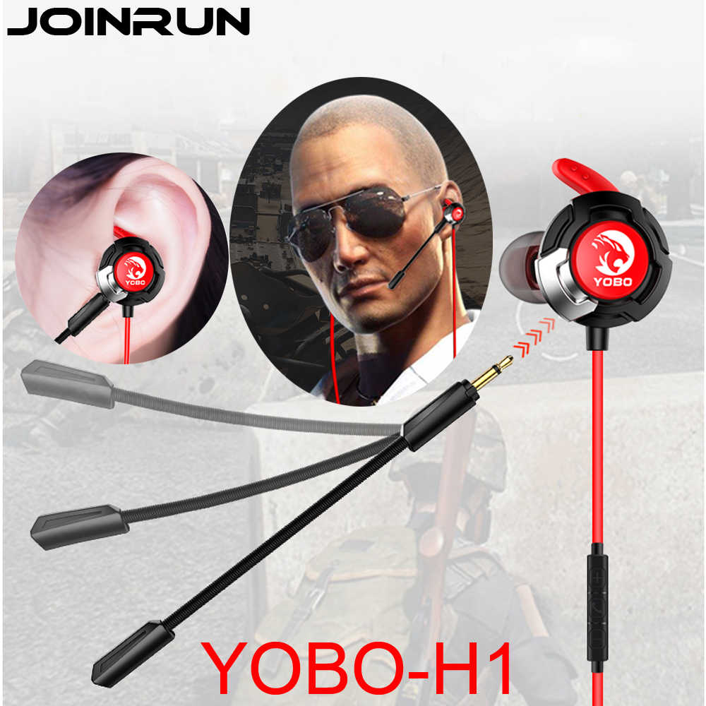 Joinrun H1 Earphone Headset Gamer Dynamic Driver Unit In-ear Bass Stereo Sports Earphones with MIC For game