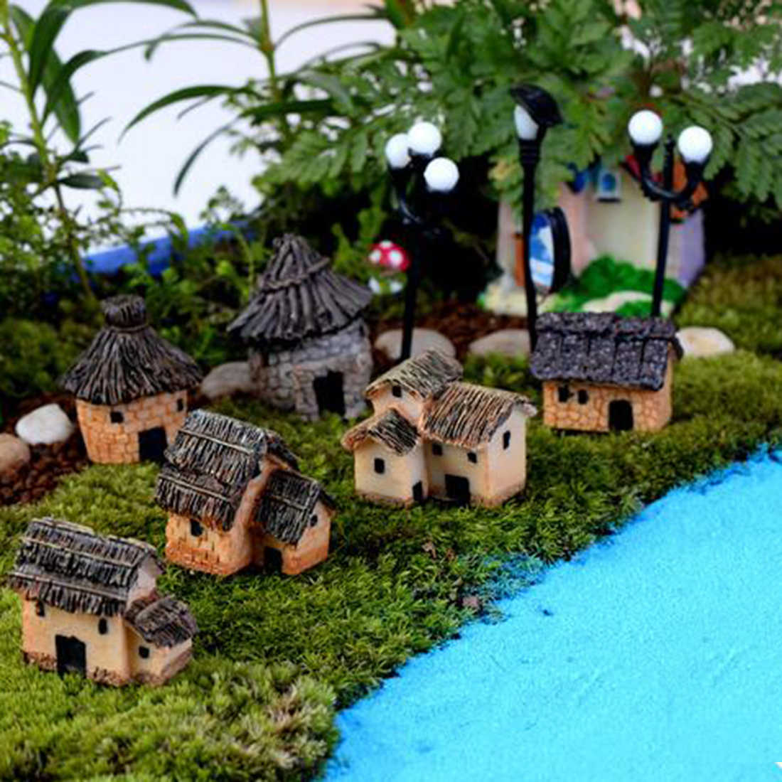 Multi Stile In Miniatura Ornamento FAI DA TE Fata Giardino Micro Dollhouse Vaso da Fiori Decorazione Bonsai Terrario Ornamento FAI DA TE Da Giardino In Miniatura