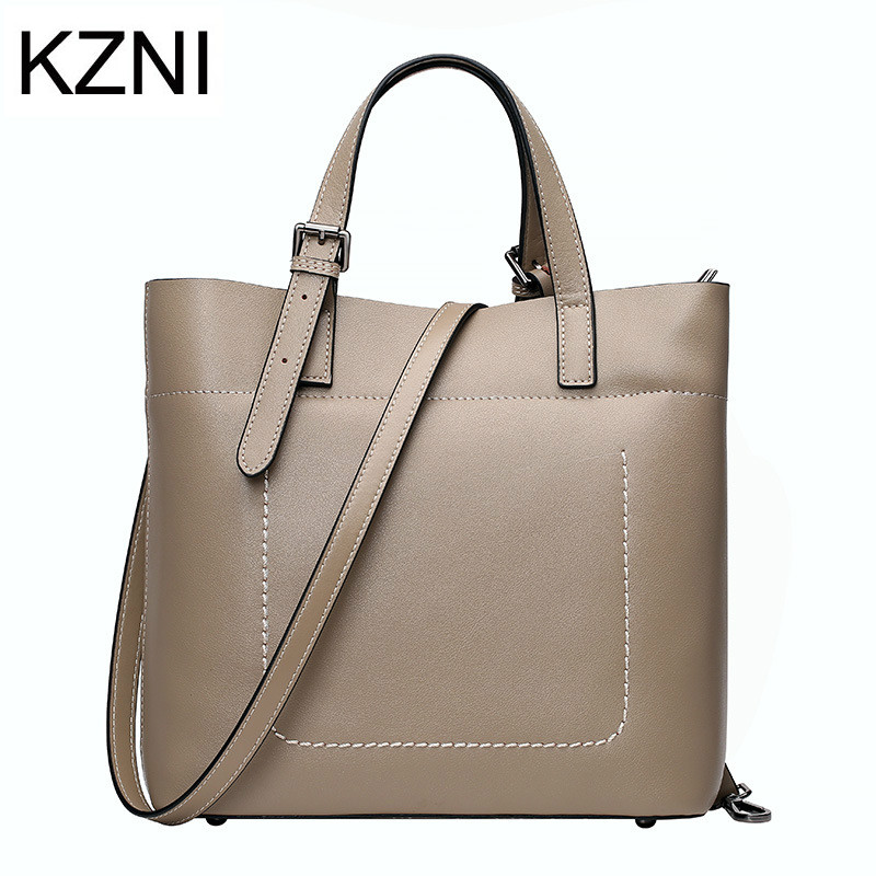 KZNI Genuine Leather Purse Crossbody Shoulder Women Bag Clutch Female Handbags Sac a Main Femme De Marque L121129 kzni tote bag genuine leather bag crossbody bags for women shoulder strap bag sac a main femme de marque luxe cuir 2017 l042003