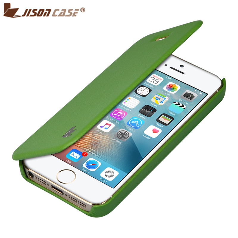 iphone flip phone case jisoncase for iphone se 5s 5 pu leather capa flip 15266
