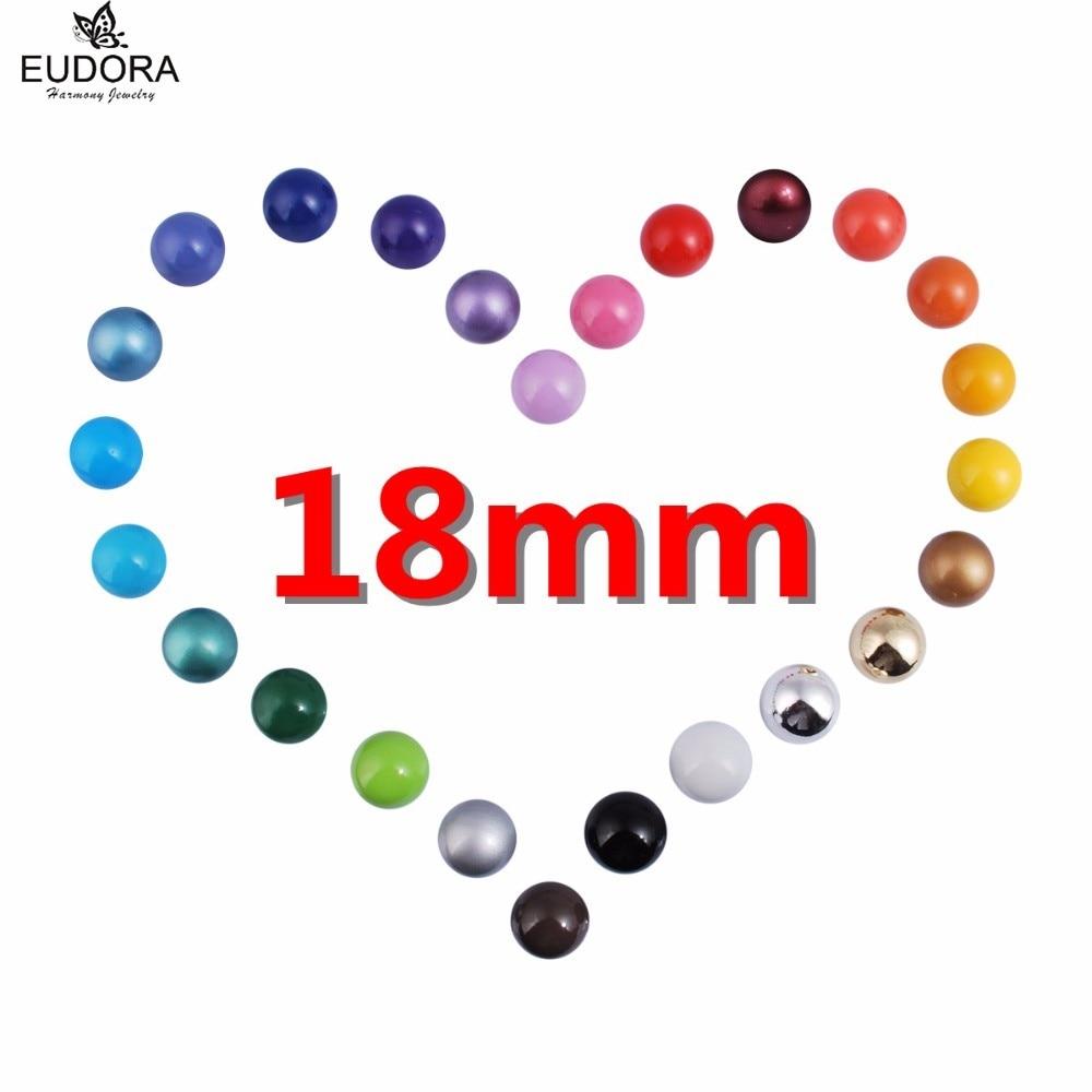 Eudora Harmony Ball diferentes colores para elegir Harmony Bola DE Chime 18mm bebé llamador ajuste medallón colgante joyería embarazada