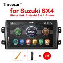 Подходит для Suzuki SX4 2006- 2DIN 9 ''автомобильный радиоприемник Bluetooth MP5 мультимедийный Видеоплеер поддержка телефона Android mirror link