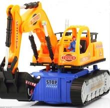 Universal Flashing Wheel Musical Excavator Car Kid Children Toy Builder